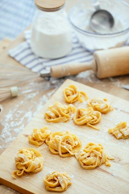 Kook pasta droog met pastaroller